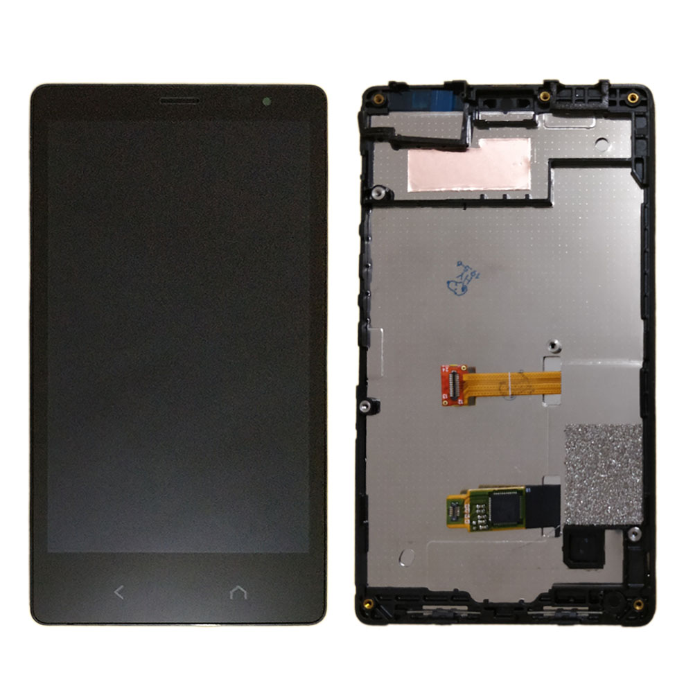 For <font><b>NOKIA</b></font> X2 LCD Display and Touch Screen with Frame Replacement parts for <font><b>NOKIA</b></font> X2 Dual RM-<font><b>1013</b></font> RM-1014 X2DS LCD Screen frame image