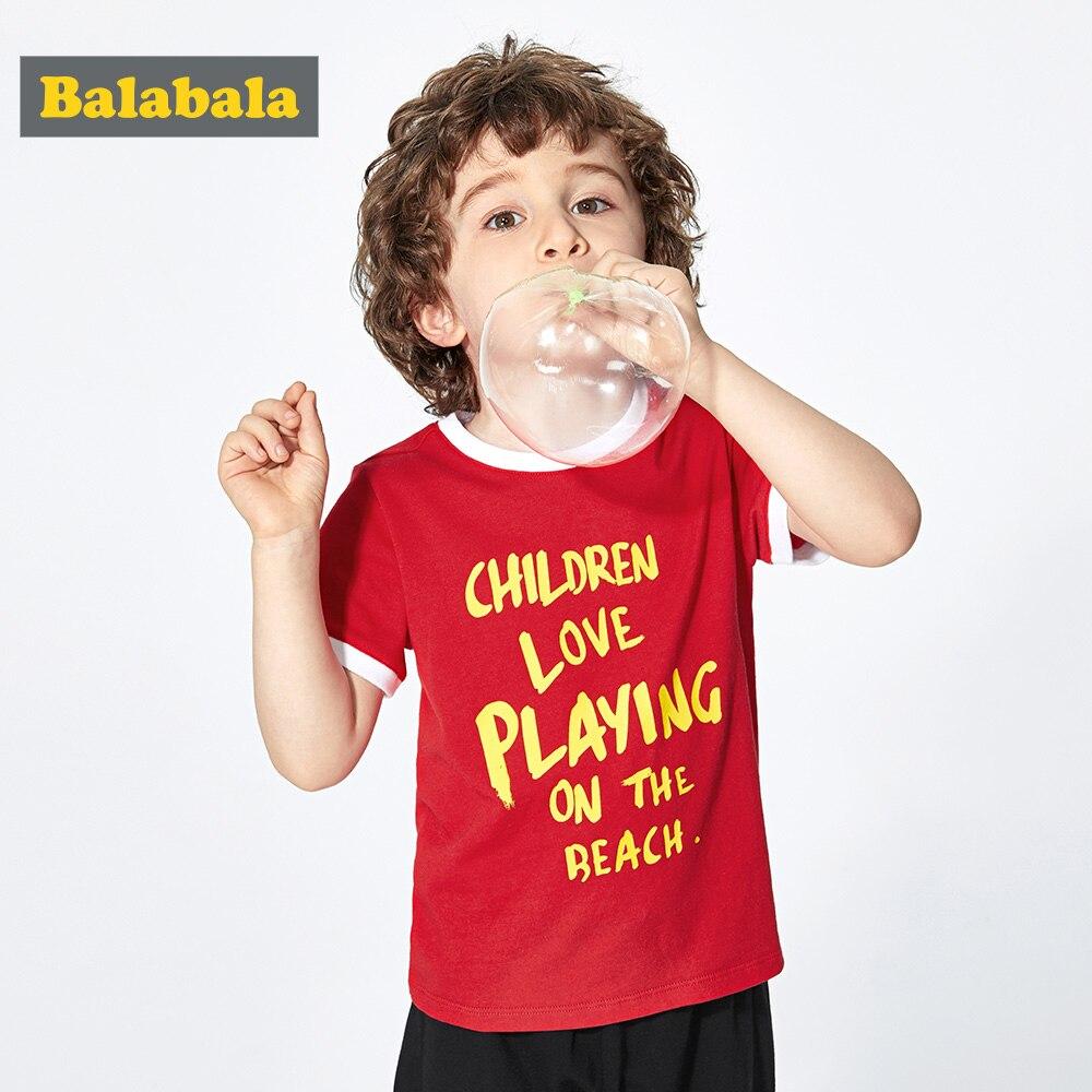 T-Shirt Boy Balabalachildren-Wear Short-Sleeve Baby Cotton Summer New Color Hit Tide