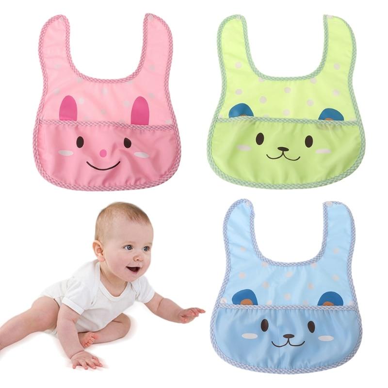 Baby Bibs Waterproof Cartoon Soft Infant Newborn Toddler Saliva Feeding Pocket-m15