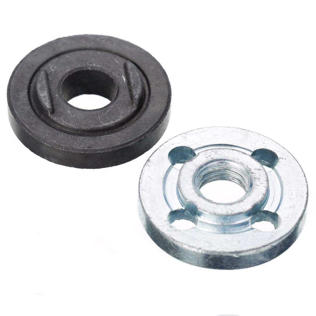 M10 30mm Angle Grinder Flange Kit Lock Nut Inner Outer Set Power Tool Accessories Lathe Machining of Steel
