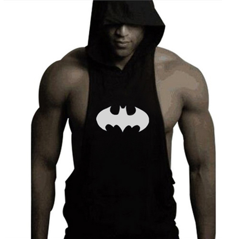2018 Brand Clothing Mens Hooded Sleeveless   Tank     Top   Bodybuilding Fitness Man Singlets Shirt Sportswear Vest Male M L XL