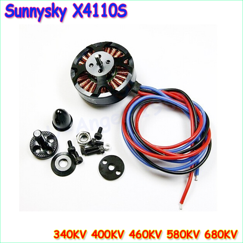 1pcs Sunnysky X4110S 340KV 400KV 460KV 580KV 680KV High Efficiency Brushless Motor for Multicopter 4S 1pcs original sunnysky x4110s 340kv