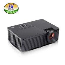 Todo el mundo Obtener Tecnología DLP 3D Proyector Digital 3000 LMS Ayuda 1080 P Proyector de Enfoque Corto Oficina Enseñanza Proyector HDMI DH-L200WU