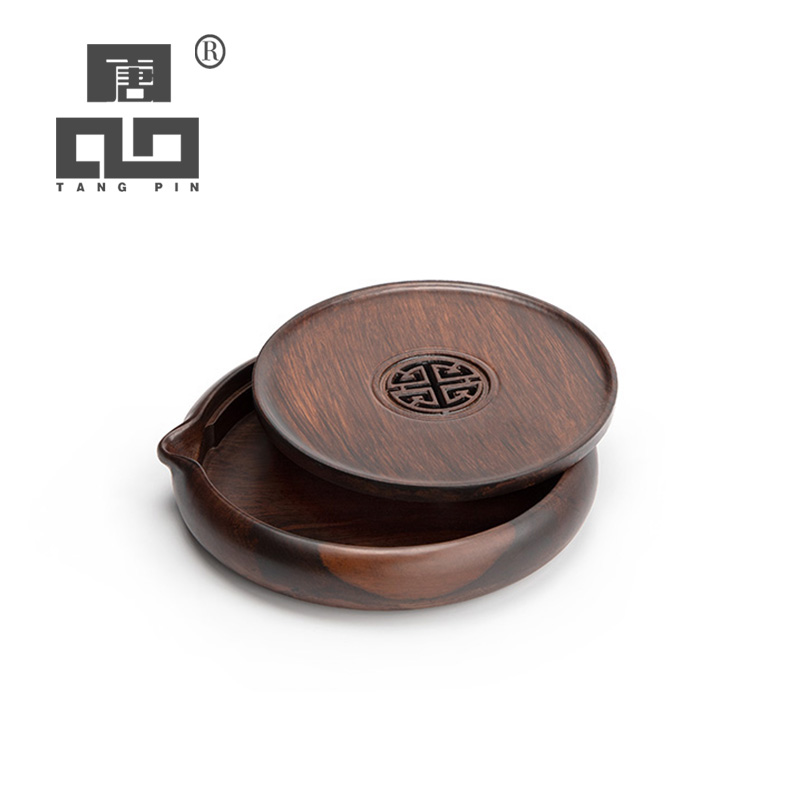 TANGPIN Wood Teapot Trivets Ebony Tea Trays Handmade Pot Holders Coffee Tea Accessories