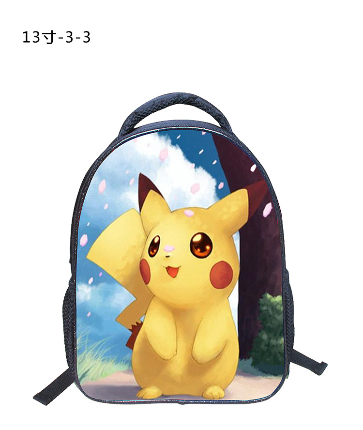 f3d0a251ba32 13 Inch Cartoon Backpack Pokemon Pikachu Shoulder Book Bag Printing School  Bags For Kids Children Mochila Infant-in School Bags from Luggage   Bags on  ...