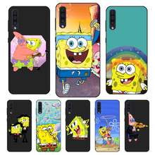 N406 Spongebob Cute Black Silicone Case For Samsung Galaxy A2 Core A6 A7 A8 A9 A10 A30 A40 A50 A60 A70 A8S A9S A20E Plus(China)