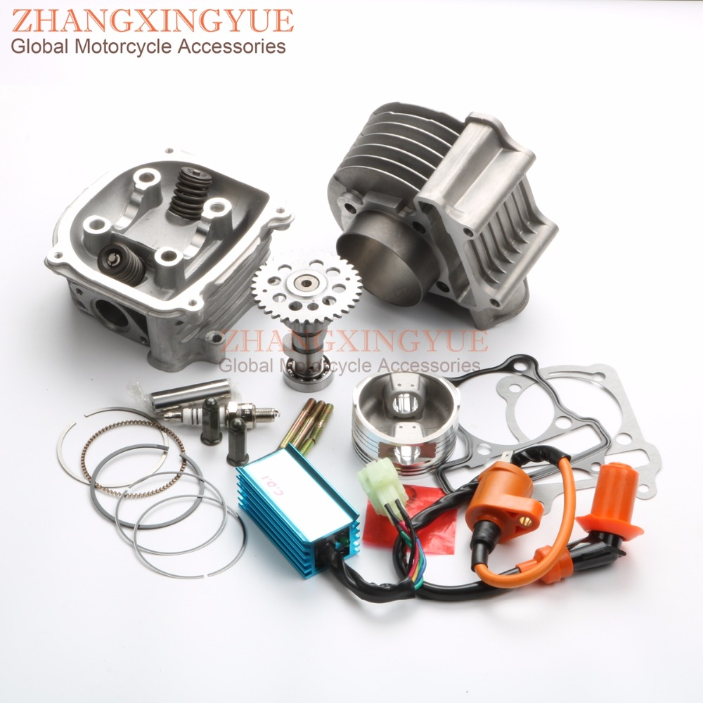 200cc Big Bore 63mm A14 Cam Racing CDI & Coil Cylinder Kit for GY6 150cc  157QMJ ATV Chinese Scooter