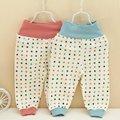 2016 Autumn Winter Children Clothing Dot Polka Baby Babi Kids Boys Girls Infant Keep Warm High Waist  Long Pants MT250