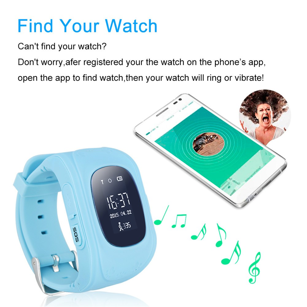 2016 Smart Kid Safe GPS Watch Wristwatch SOS Call Location Finder Locator Tracker for Kid Child Anti Lost Monitor Baby Gift Q5032