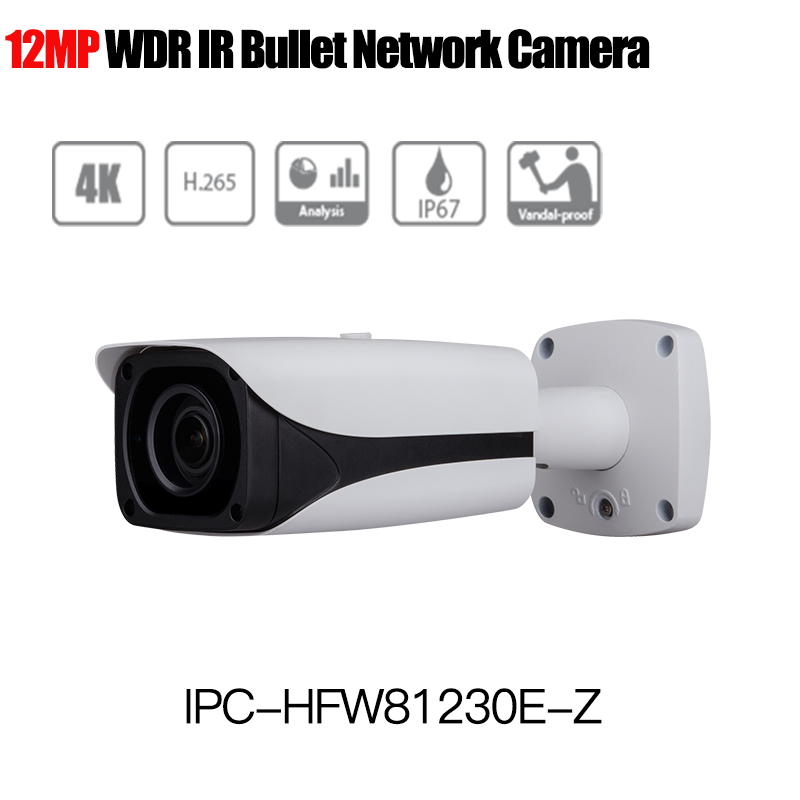 4k 12MP IP Camera IPC-HFW81230E-Z IR bullet Network Camera 4.1mm-16.4mm motorized lens Support POE and SD card IP67 IK10 mini pci express 4 serial ports controller card mini pcie to db9 rs232 adapter mini pci e com card mcs9904