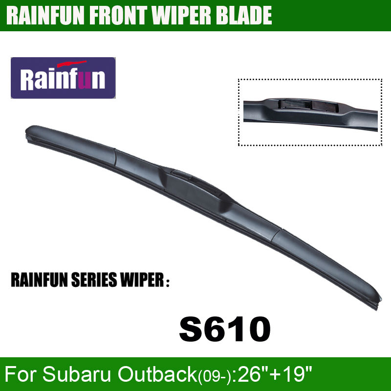 RAINFUN специализированная Автомобильная щетка стеклоочистителя для SUBARU OUTBACK(09-), 26+ 19 дюймов Автомобильный Стеклоочиститель Авто мягкий стеклоочиститель, 2 шт в партии