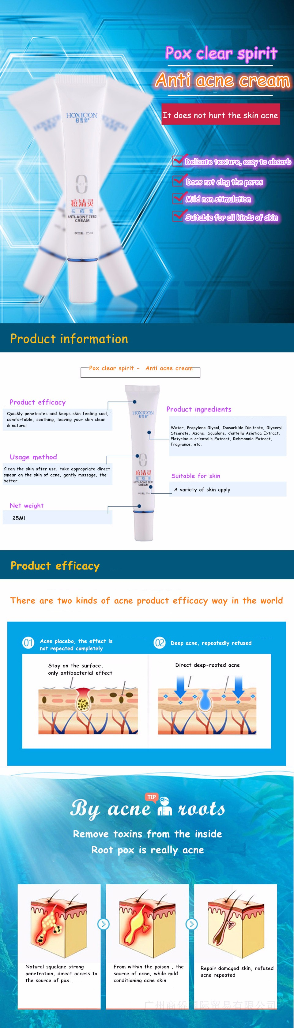 HOXICON Beauty Tools Acne Cream Clear Zit squalane Pimple Removal Vanishing Dispelling Creams Face Skin Care 2