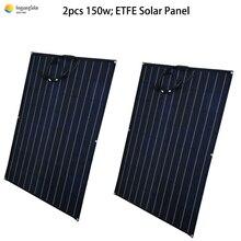 Гибкие солнечные панели 300 Вт, равная по 2 шт. semi Гибкая солнечная батарея по оптовочной ценеоп 150 W ЭТФЭ пленочного покрытия монокристаллический солнечный элемент 24V батарея