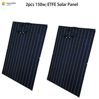 150W 300w flexible Solar panel Solar Cell for off grid/Boat/Car RV 12V 24V Battery Charge