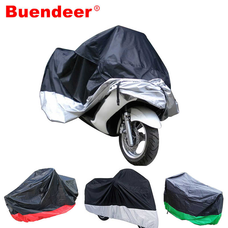 Buendeer 3 Colors M/XL/XXL/XXXL Motorcycle Cover Waterproof Outdoor UV Protector Bike Rain Motorbike Scooter Protective Covering