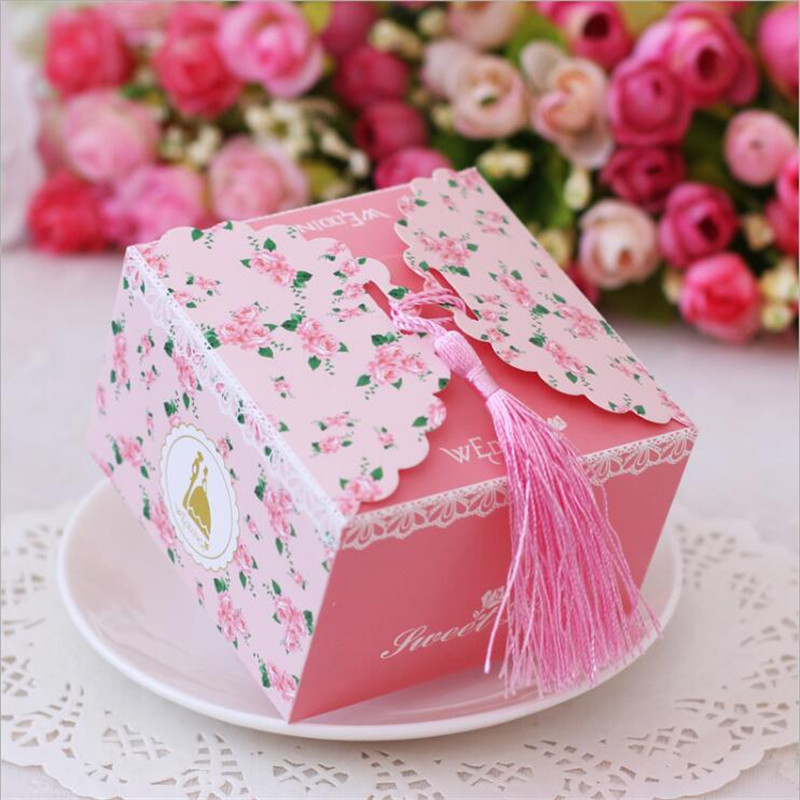 Gift Box Wedding Invitations: 50Pcs Wedding Decoration Candy Favor Gift Box Wedding