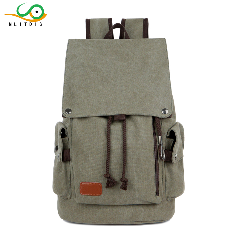 MLITDIS Mens 15 inch Laptop Backpack USB Port School Backpacks Men Rucksacks Leisure For Teenage Boys mochila male Escolar Gray
