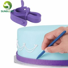 1PC Fondant Silicone Cake Measuring Tape for Decorating Dividing Ruler Tools Color Purple