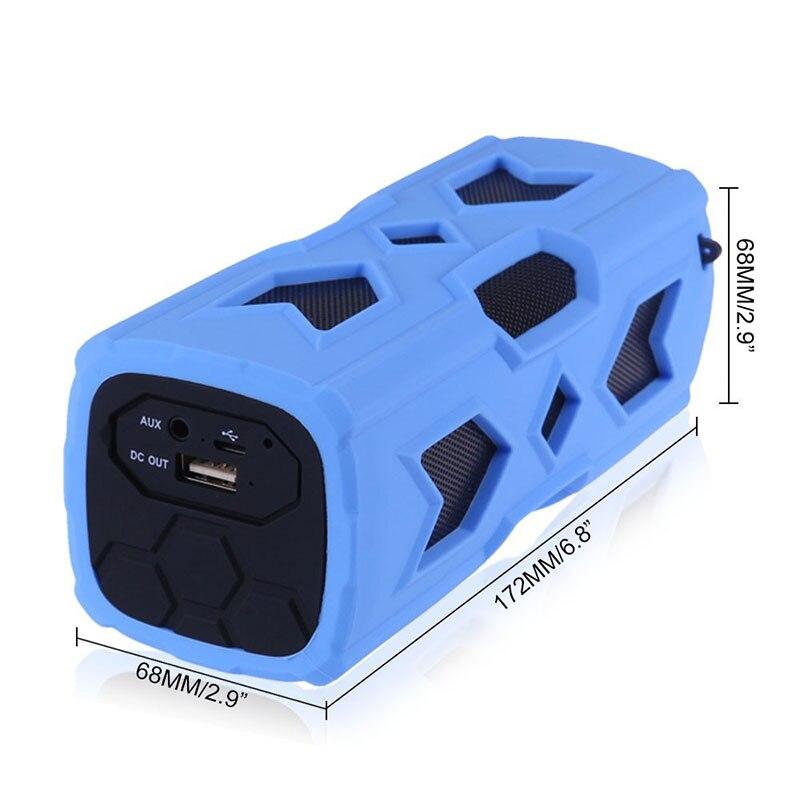 FUU Yeni Dikdörtgen Açık Su Geçirmez Bluetooth Hoparlör Mobil - Taşınabilir Ses ve Görüntü - Fotoğraf 3