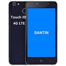 SANTIN Q3 5.0 ''HD Parmak Izi 4G LTE akıllı telefon Dört Çekirdekli telefon MTK6735 Android 6.0 2 GB RAM 16 GB ROM cep telefonu ...