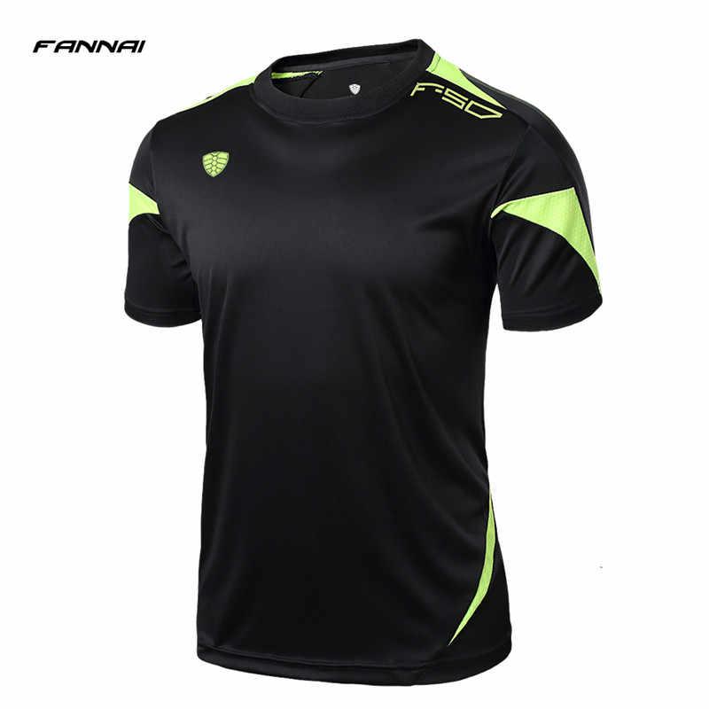 FANNAI бренд 2017 новые мужские теннисные рубашки для бега на открытом воздухе спортивная одежда для пробежек бадминтон мужские футболки и топы с короткими рукавами