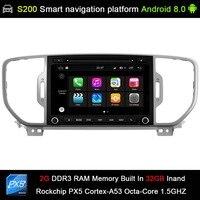 Android 8.0 system PX5 Octa 8 Core CPU 2G Ram 32GB Rom Car DVD Radio GPS Navigation for KIA sportage 2016 2017 kx5