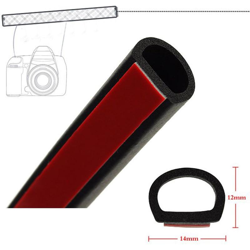 4 Meters Big D Type Car Door Rubber Seal Sound Insulation Weatherstrip Car Supplies Sealing Strips Car Door Seal