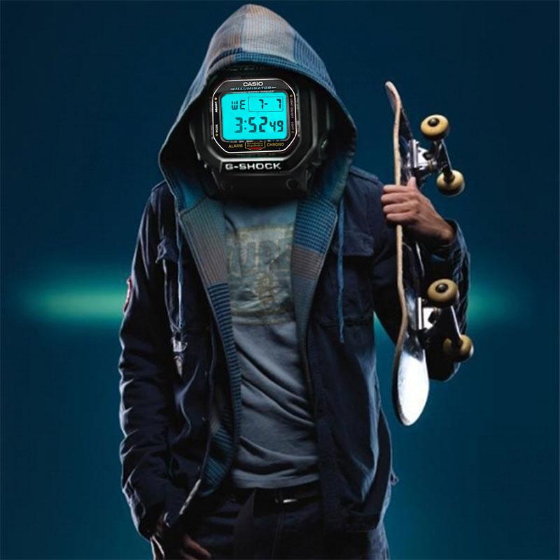 Casio watch Fashion sports waterproof font b men s b font watches DW 5600E 1V