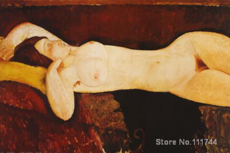 Nude Woman Reclining Amedeo Modigliani painting wall art for office space Handmade High quality