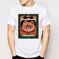 Bán buôn Novelty Thiết Kế Men 'S Short Sleeve Người Bạn Tốt Nhất Đức Spitz/Pomeranian Tee Áo Sơ Mi Vui T-Shirts Tops Người Đàn Ông Trẻ Tuổi Tee Shi