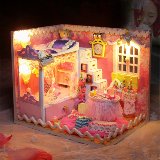 Princess Girls Diy Small House With Light Adult Material Bag Handmade Birthday Gift To Send 10 12 Years Old