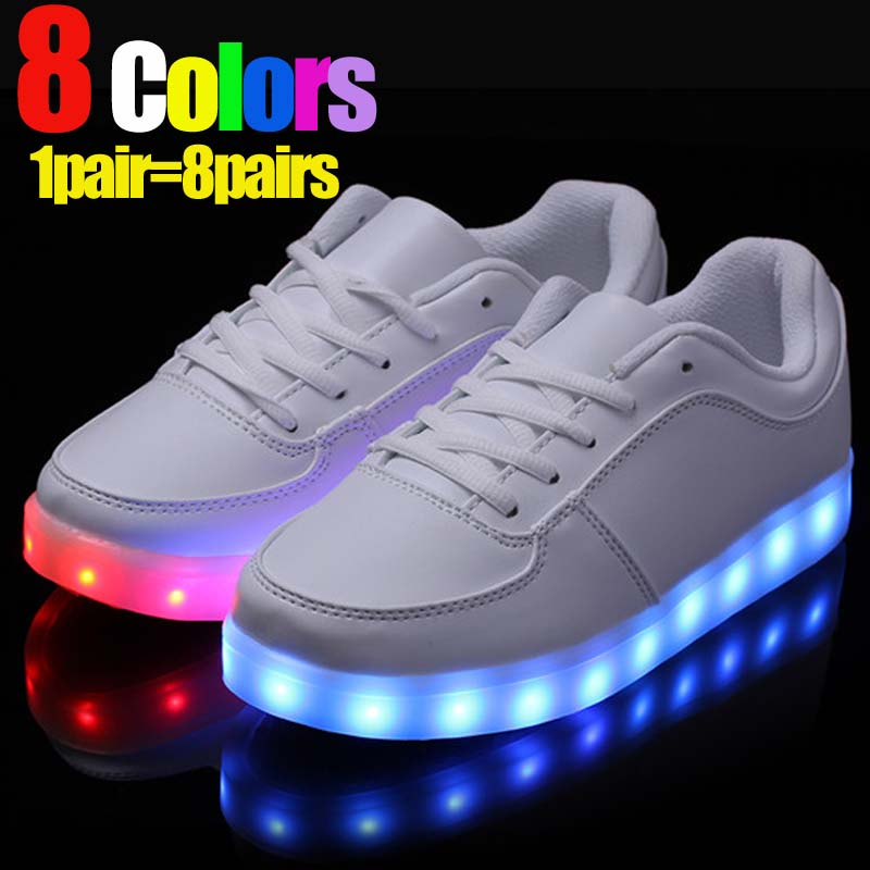 Fashion Korean Style Lovers Lighting Shoes Size 35 44 Led Shoes Men Women Fashion Luminous Led Light Shoes For Adults-in Menu0027s Casual Shoes from Shoes on ... & Fashion Korean Style Lovers Lighting Shoes Size 35 44 Led Shoes ... azcodes.com