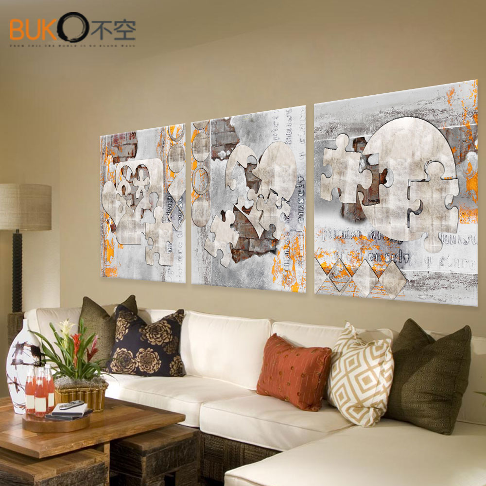 panel de la lona de pintura abstracta de metal modular casa pintura pinturas lienzo de