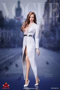 Image 2 - 1/6 נשי פעולה איור בגדי תעלת מעיל סט עם חגורת גרביים סקסי חליפת עבור 12 אינץ Phicen Tbleague Jiaoudoll גוף דמות