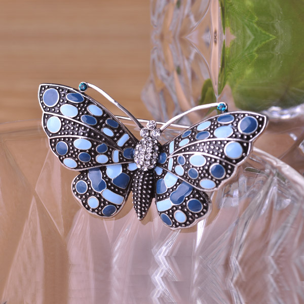 exquisite turquoise butterfly brooches pin insects vintage brooch hat accessories scarf clips. Black Bedroom Furniture Sets. Home Design Ideas