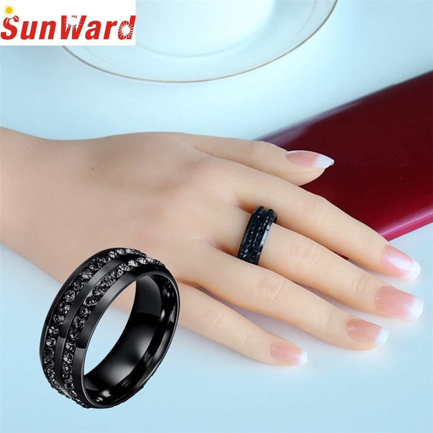 Ring jewelery Black Rings Hot Rings Unisex Titanium Steel Ring Men Women Wedding Band Silver Gold Wedding Jewelry Drop Shipping