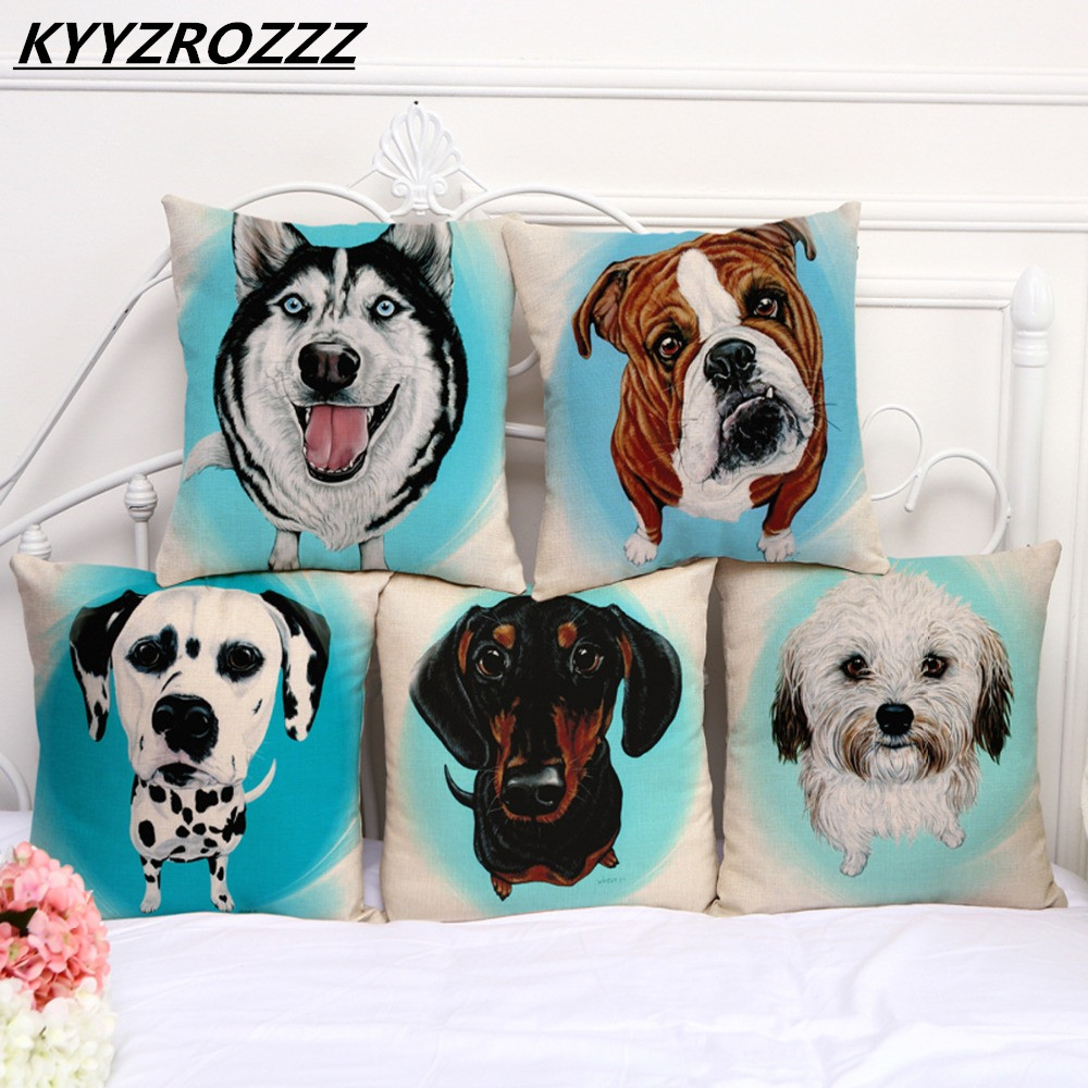 Frenchie Bulldog Cushion Cover French Animal Pillow Case Pug Pattern Design Decorative Throw Pillows Sofa 1 PCS/Lot ...