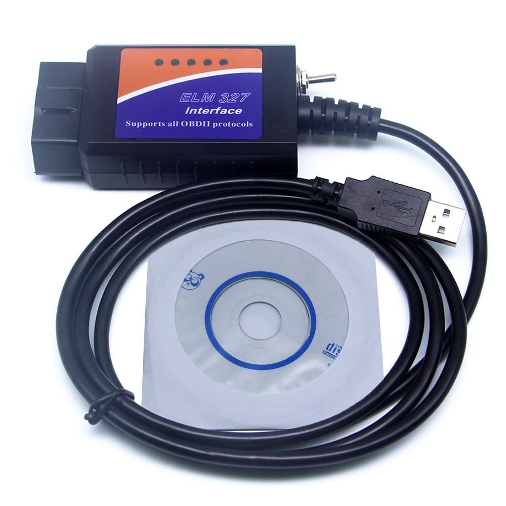 ELM327 USB FTDI puce Lecteur de Code pour Ford HS PEUT/MS PEUT commutateur