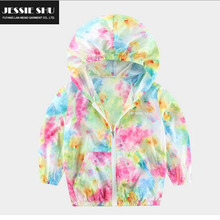 (2-7 years old) Summer new foreign trade children's clothing for men and women sunscreen sunscreen clothing Boys Hoodie
