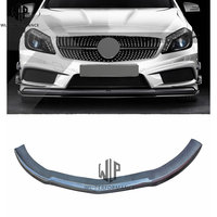 For Mercedes Benz A Class A45 Front Bumper Lip Spoiler Diffuser Car Front Bumpers Protector Splitter car body kit 13 15 use