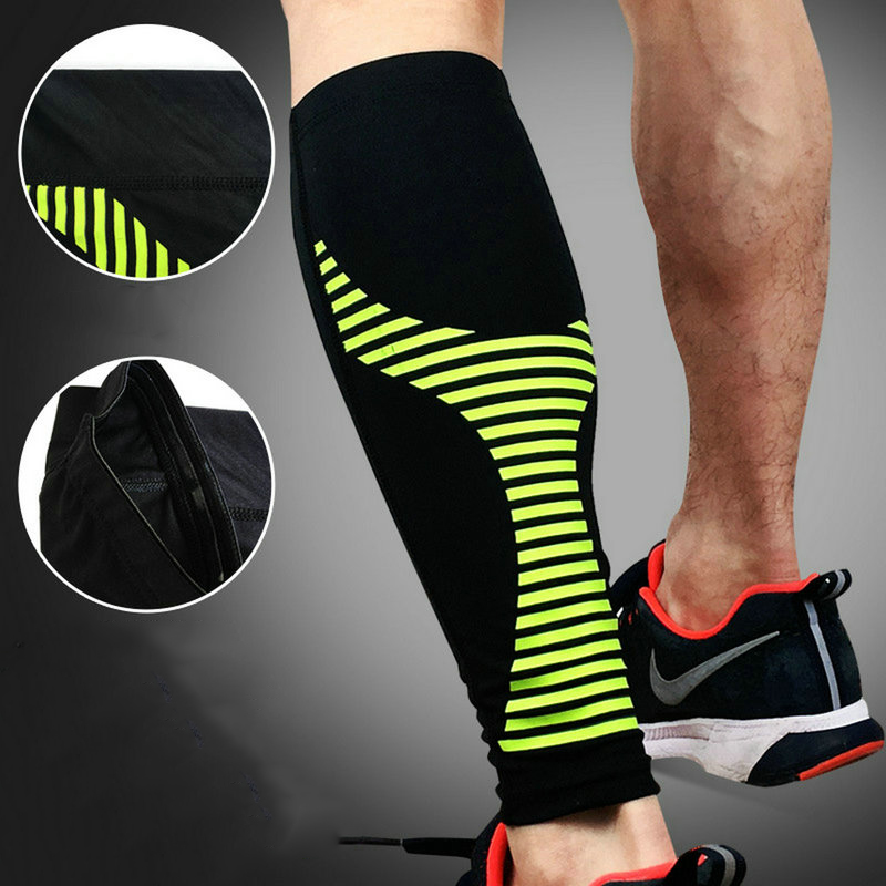 Aipbunny Outdoor Muscle Pressure Cycling Hiking Legwarmers Football Soccer Sport gaiter Leggning Running Basketball Leg Warmers
