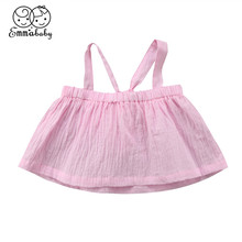 Модная одежда для детей, Детская мода для девочек, футболка без рукавов красивое платье для новорожденных с открытой спиной для маленьких девочек Топы И Футболки Лидер продаж Подтяжки футболки