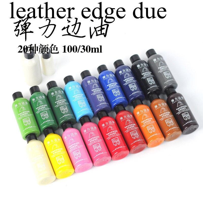 20 colores elegir 30 ml colorido pintura de borde de cuero de borde tinte destaca Borde de aceite