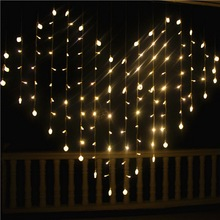 2m*1.5m 128 Led Heart String Light Christmas Lights Wedding Party Lantern Fairy Valentine Decoration EU/US Plug