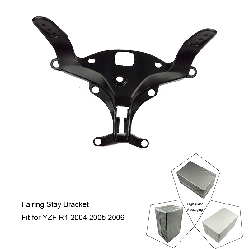 For Yamaha YZF-R1 YZF R1 2004 2005 2006 Motorcycle Upper Front Headlight Fairing Stay Bracket Holder 100% Brand New upper front fairing cowl nose fits for yamaha 2004 2005 2006 yzf r1 injection mold abs plastic