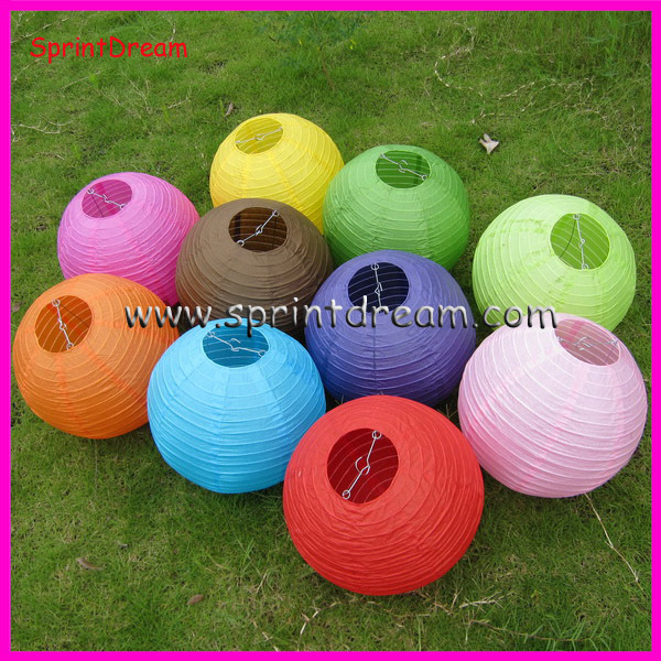 (10pcs/lot) 12''(30cm) Free shipping ! Black Chinese round paper lantern, wedding lantern