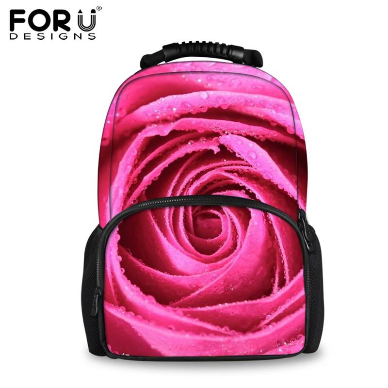 Backpacks Women's Bags Forudesigns Fashion Floral Printing Backpack For Women Travel Big Laptop Female Felt Backpacks 3d Rose School Bagpacks Mochilas 100% Original