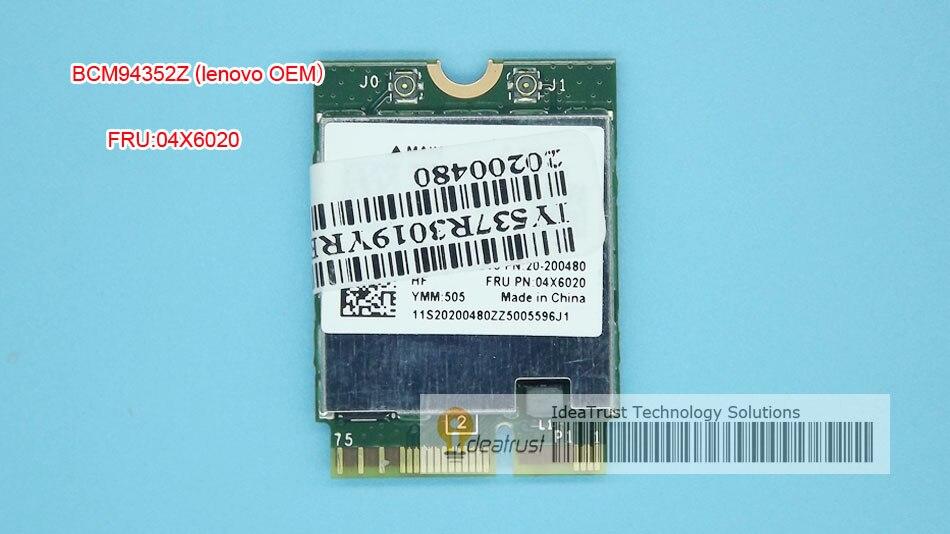 Bcm94352z FRU 04X6020 AC BT4.0 867 Мбит/с для Lenovo b40 B50 E40 Y50 Яга 3 Wi-Fi Беспроводной сети карты