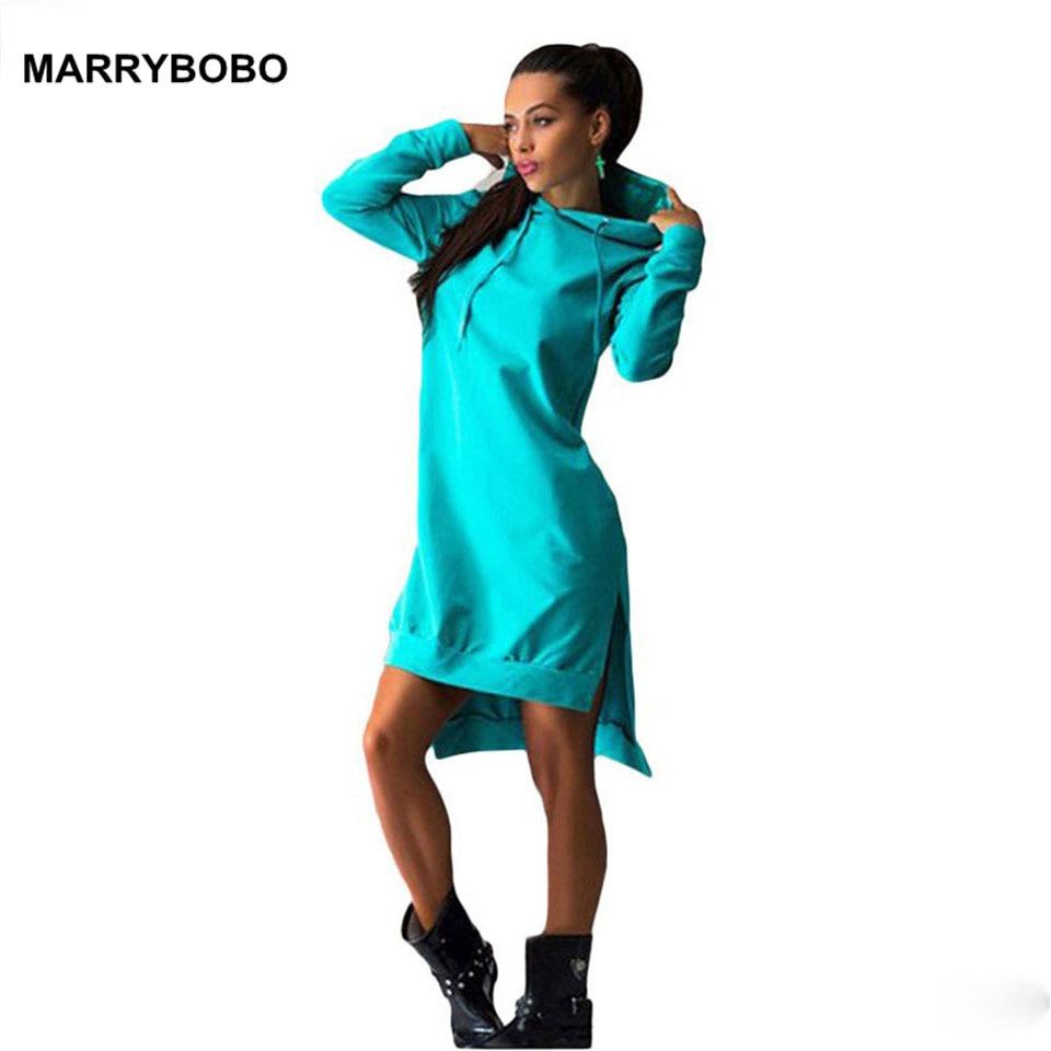 Women Slim Hoodie Dress 2019 Autumn Winter Long Sleeve Casual Dress Hooded Pockets Sportwear Female Fashion Women Clothing