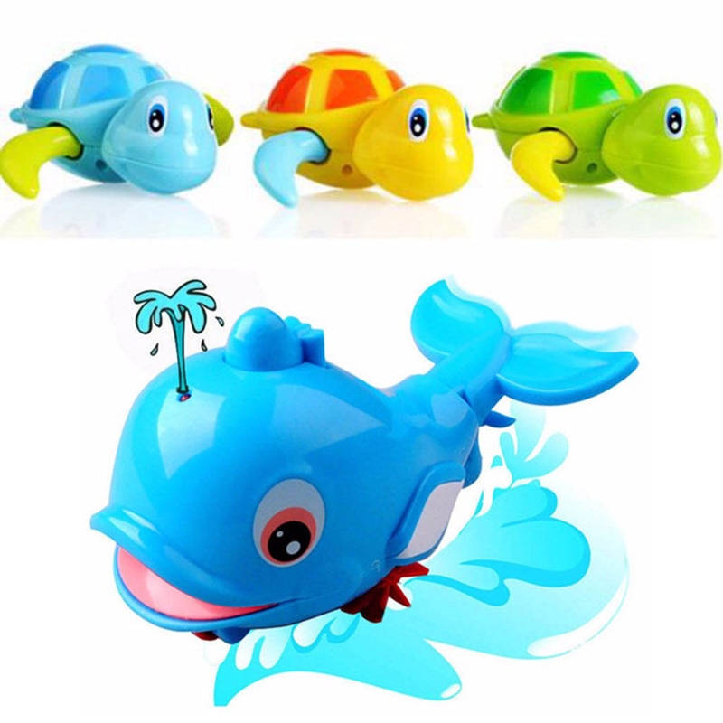 New Animal Turtle Dolphin Baby Shower Baby Swim Play Toy Swimming Pool Accessories Baby Play In